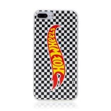 Kryt HOT WHEELS - pro Apple iPhone 7 Plus / 8 Plus - gumový - šachovnice