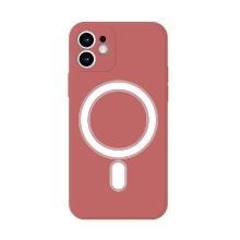 Kryt pro Apple iPhone 12 - Magsafe - silikonový - červený