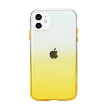 Kryt pro Apple iPhone 11 - gumový - průhledný / žlutý