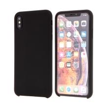 Kryt pro Apple iPhone Xs Max - gumový - příjemný na dotek - černý