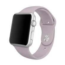 Řemínek pro Apple Watch 44mm Series 4 / 5 / 6 / SE / 42mm 1 / 2 / 3 - velikost S / M - silikonový - fialový