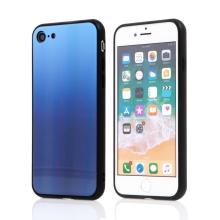 Kryt pro Apple iPhone 7 / 8 / SE (2020) - barevný přechod a lesklý efekt - gumový / skleněný - modrý