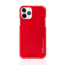 Kryt MERCURY iJelly pro Apple iPhone 11 Pro Max - gumový - matný - červený