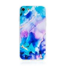 Kryt BABACO pro Apple iPhone 7 / 8 / SE - gumový - mlhovina - růžový / modrý