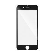 """Tvrzené sklo (Tempered Glass) """"5D"""" pro Apple iPhone 6 / 6S - 2,5D - černý rámeček - čiré - 0,3mm"""
