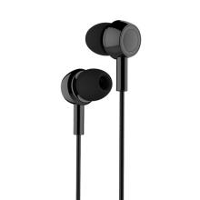 Sluchátka USAMS EP-12 pro Apple zařízení - ovládání + mikrofon - plastová - černá