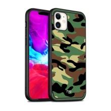 Kryt NXE Camouflage pro Apple iPhone 12 / 12 Pro - gumový / plastový - maskáčový vzor - zelený