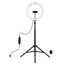 LED světlo PULUZ (Ring light) 26cm - kruhové - dálkové ovládání + stativ 165 cm - bílé / žluté