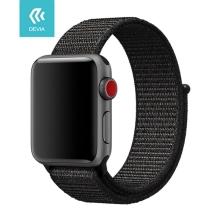 Řemínek DEVIA pro Apple Watch 44mm Series 4 / 5 / 42mm 1 2 3 - nylonový - černý / barevný