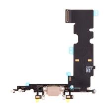 Napájecí a datový konektor s flex kabelem + GSM anténa + mikrofony pro Apple iPhone 8 Plus - zlatý - kvalita A+