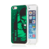 Kryt MARVEL pro Apple iPhone 5 / 5S / SE - Hulk - gumový