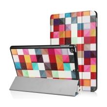 Pouzdro / kryt pro Apple iPad 9,7 (2017-2018) - funkce chytrého uspání + stojánek - barevné čtverce