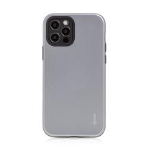 Kryt ROAR Rico pro Apple iPhone 12 / 12 Pro - odolný - plastový / gumový - šedý