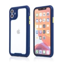 Kryt pro Apple iPhone 11 - plastový / gumový - přesné výřezy fotoaparátu - modrý