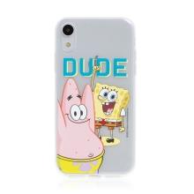 Kryt Sponge Bob pro Apple iPhone Xr - gumový - Sponge Bob s Patrikem