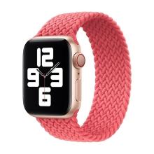 Řemínek pro Apple Watch 44mm Series 4 / 5 / 6 / SE / 42mm 1 / 2 / 3 - bez spony - nylonový - velikost M - růžový