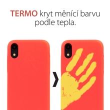 Kryt pro Apple iPhone Xr - teplotní senzor měnící barvy - červený