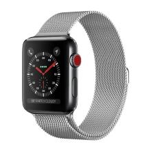 Řemínek pro Apple Watch 41mm / 40mm / 38mm - nerezový - stříbrný