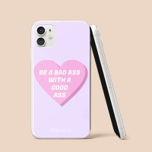 """Kryt BABACO pro Apple iPhone 11 Pro - gumový - srdce """" zlobivá holka"""""""