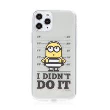 Kryt MIMONI pro Apple iPhone 11 Pro - kriminálník mimoň - průhledný
