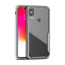 Kryt IPAKY pro Apple iPhone Xs Max - plastový / gumový - průhledný / šedý