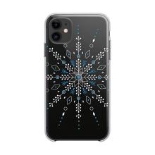 Kryt FORCELL Winter pro Apple iPhone 12 / 12 Pro - gumový - průhledný / sněhová vločka