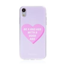 "Kryt BABACO pro Apple iPhone Xr - gumový - srdce "" zlobivá holka"""