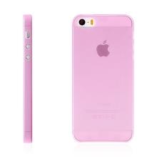 Kryt pro Apple iPhone 5 / 5S / SE - matný - plastový - tenký 0,5 mm - růžový