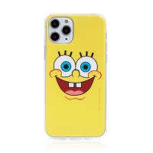 Kryt Sponge Bob pro Apple iPhone 11 Pro - gumový - vysmátý Sponge Bob