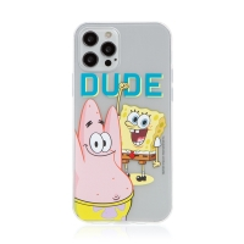 Kryt Sponge Bob pro Apple iPhone 12 Pro Max - gumový - Sponge Bob s Patrikem
