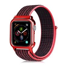 Řemínek pro Apple Watch 44mm Series 4 + pouzdro - nylonový - červený
