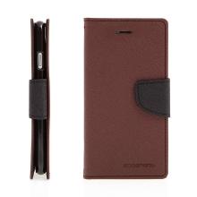 Pouzdro Mercury Fancy Diary pro Apple iPhone 7 / 8 - stojánek a prostor na doklady - hnědé / černé