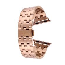 Řemínek pro Apple Watch 44mm Series 4 / 5 / 42mm 1 2 3 - ocelový + šroubováček - Rose Gold