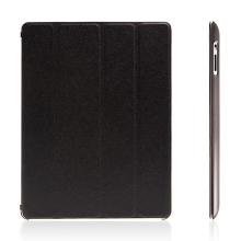 Pouzdro + Smart Cover pro Apple iPad 2. / 3. / 4.gen. - černé průhledné - elegantní textura
