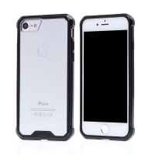 Kryt pro Apple iPhone 7 / 8 - pevný - plastový / gumový - průhledný / černý