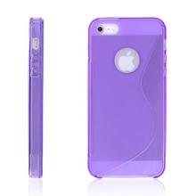 Protiskluzový ochranný kryt S line pro Apple iPhone 5 / 5S / SE - fialový