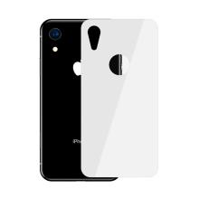 Tvrzené sklo (Tempered Glass) BASEUS pro Apple iPhone Xr - na zadní část - bílé - 0,3mm