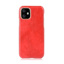 Kryt pro Apple iPhone 11 - plastový / umělá kůže - červený