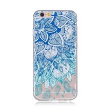 Kryt pro Apple iPhone 6 / 6S gumový - průhledný - modrá květina