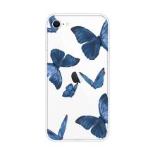 Kryt pro Apple iPhone 7 / 8 / SE (2020) - gumový - modří motýli