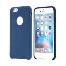 Kryt pro Apple iPhone 6 / 6S - gumový - příjemný na dotek - výřez pro logo - tmavě modrý