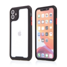 Kryt pro Apple iPhone 11 - plastový / gumový - přesné výřezy fotoaparátu - černý