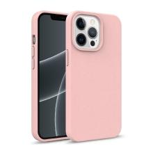 Kryt pro Apple iPhone 13 Pro Max - slaměné kousky - gumový - růžový