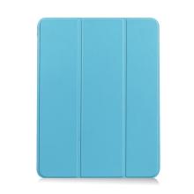 Pouzdro / kryt pro Apple iPad Air 4 (2020) - chytré uspání - držák Apple Pencil - umělá kůže - světle modré