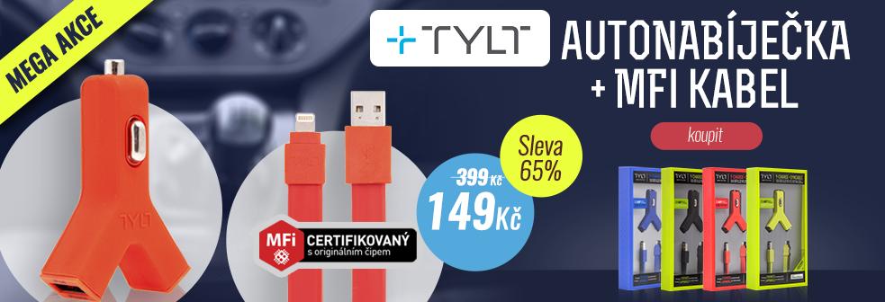 MEGA AKCE - TYLT Autonabiječka + MFi kabel