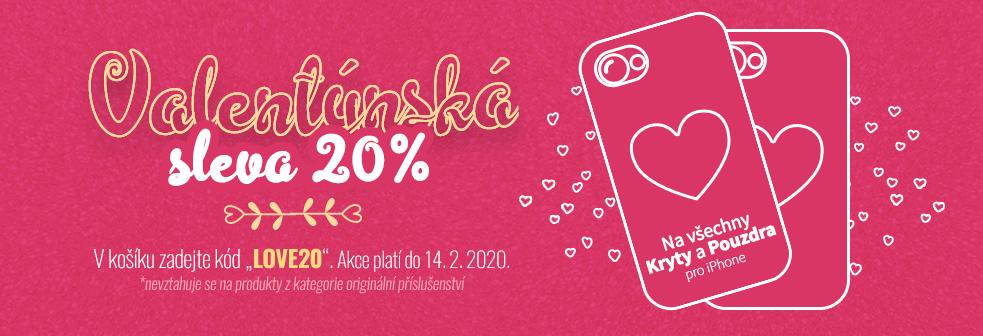 Valentýnská sleva 20%