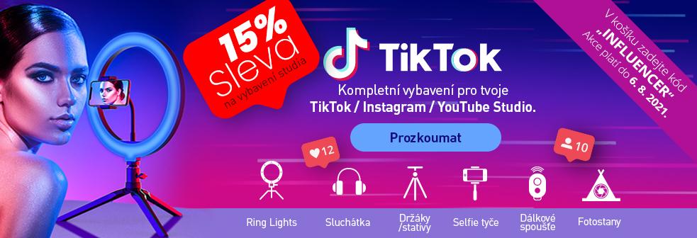 15% Sleva na  vybavení tvého TikTok / Instagram / Youtube studia