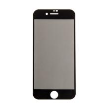 """Tvrzené sklo (Tempered Glass) """"5D"""" pro Apple iPhone 7 / 8 - 2,5D - černý rámeček - privacy - 0,3mm"""