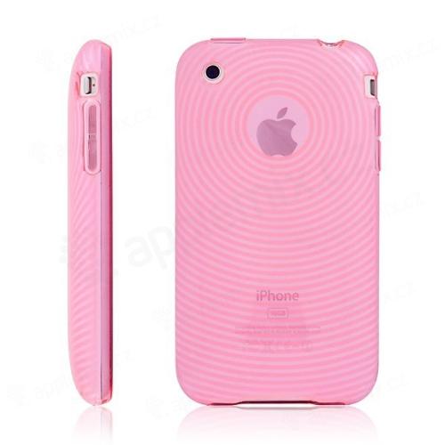Texturované ochranné pouzdro pro iPhone 3G / 3GS - růžové