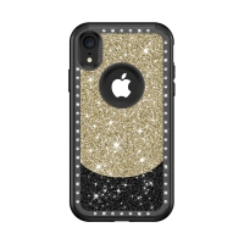 Kryt pro Apple iPhone  Xr - kamínky a třpytky - plastový / gumový